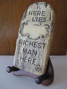 richest man tombstone